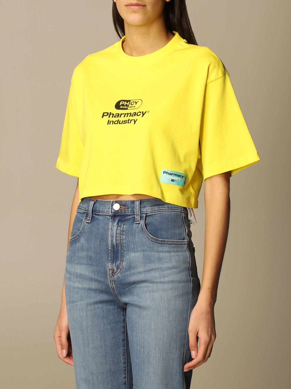 T-Shirt Pharmacy Industry: T-shirt damen Pharmacy Industry gelb 3