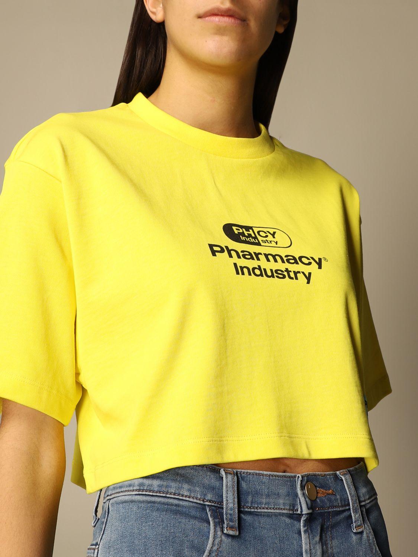 T-Shirt Pharmacy Industry: T-shirt damen Pharmacy Industry gelb 4