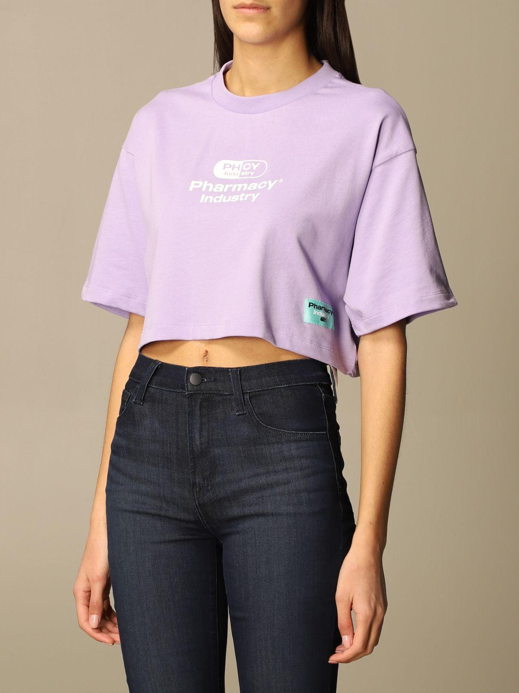 T-Shirt Pharmacy Industry: T-shirt damen Pharmacy Industry lila 3