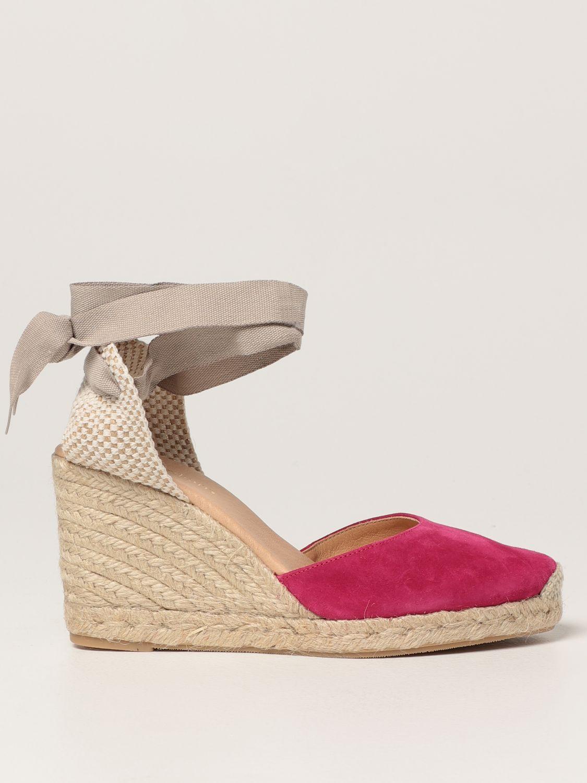 Keilabsatz Schuhe My Chalom: Schuhe damen My Chalom fuchsia 1