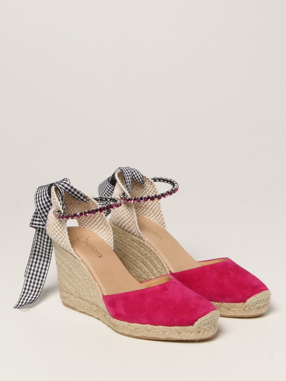 Keilabsatz Schuhe My Chalom: Schuhe damen My Chalom fuchsia 2