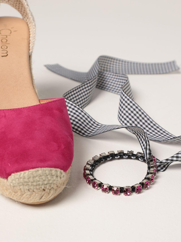 Keilabsatz Schuhe My Chalom: Schuhe damen My Chalom fuchsia 4