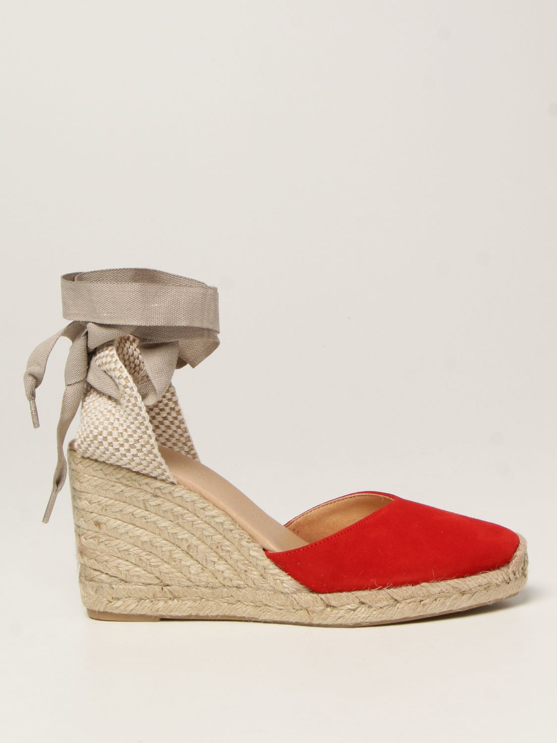Chaussures compensées My Chalom: Chaussures femme My Chalom rouge 1