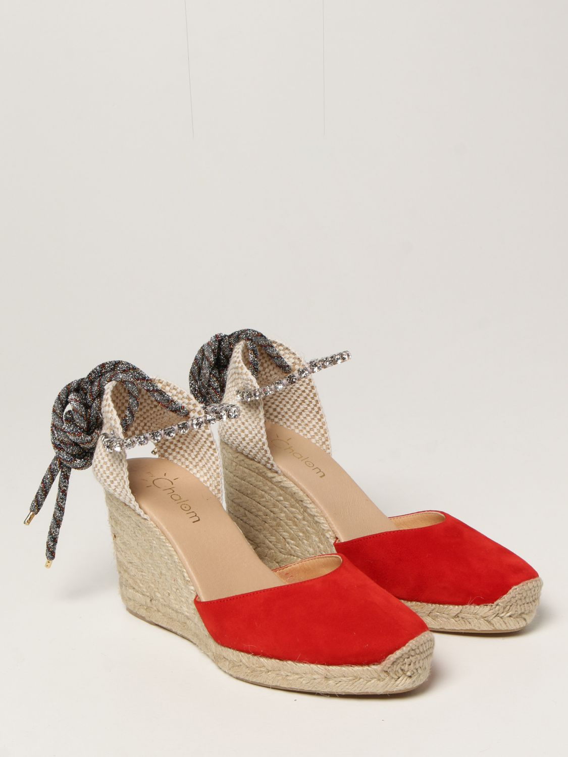 Chaussures compensées My Chalom: Chaussures femme My Chalom rouge 2