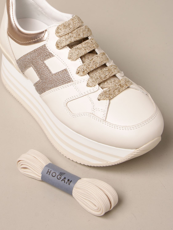 HOGAN: Maxi platform H283 sneakers in leather | Sneakers Hogan ...