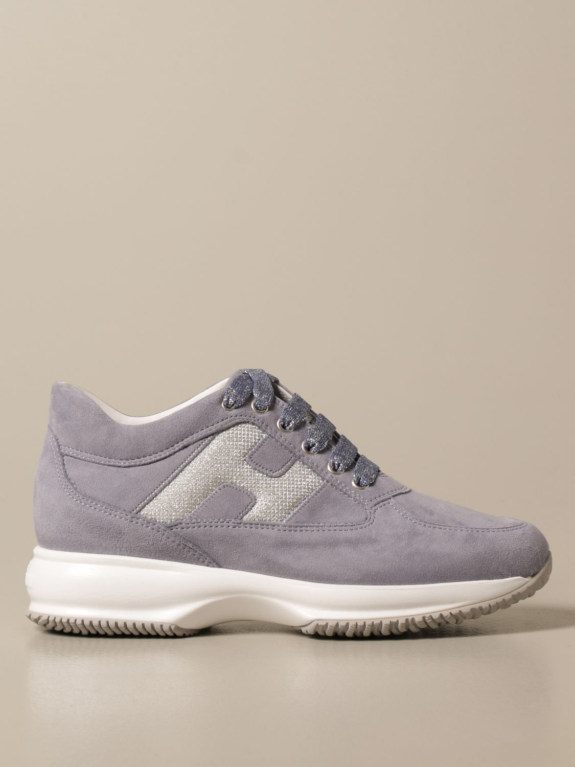 HOGAN: Interactive sneakers in suede with luminous H   Sneakers ...