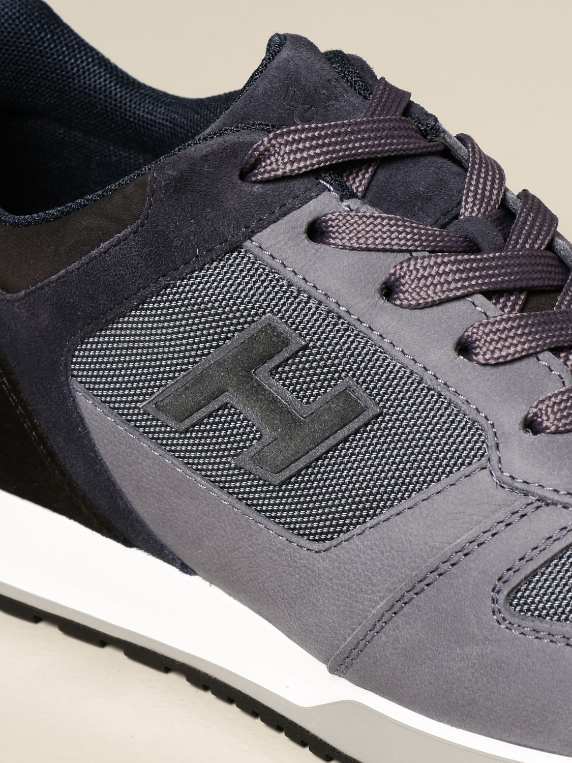 H321 Hogan sneakers in suede and nubuck with H flock