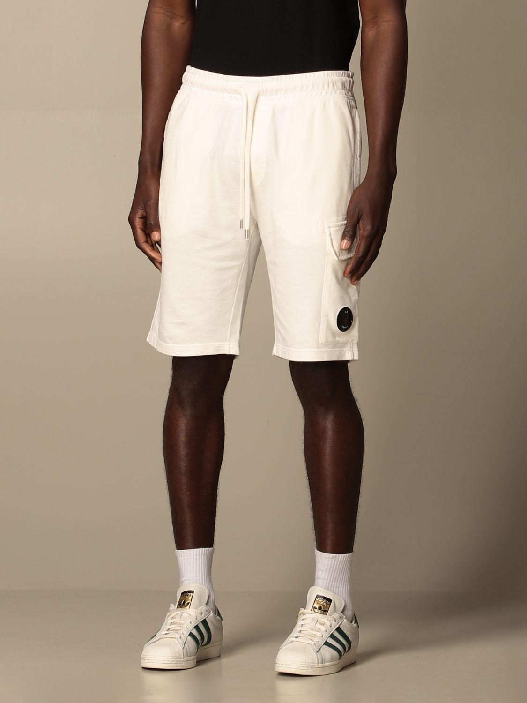 Pantalones cortos C.p. Company: Pantalones cortos hombre C.p. Company blanco 3