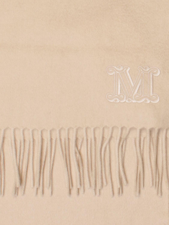 Schal Max Mara: Seidentuch damen Max Mara yellow cream 3