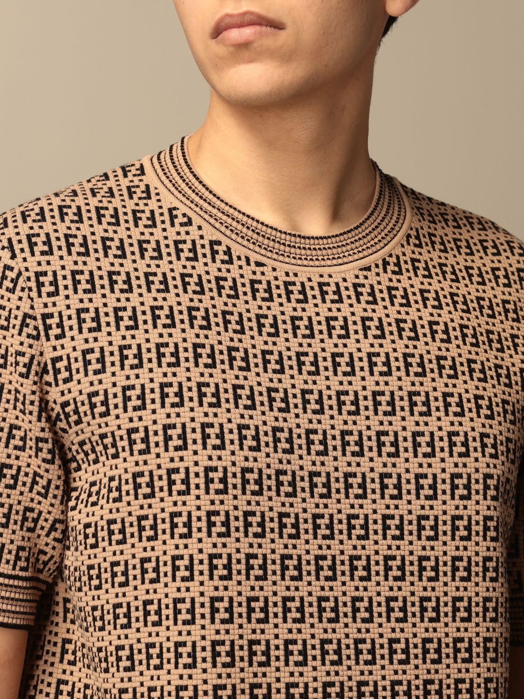 Jumper Fendi: Fendi crewneck jumper with FF monogram beige 5