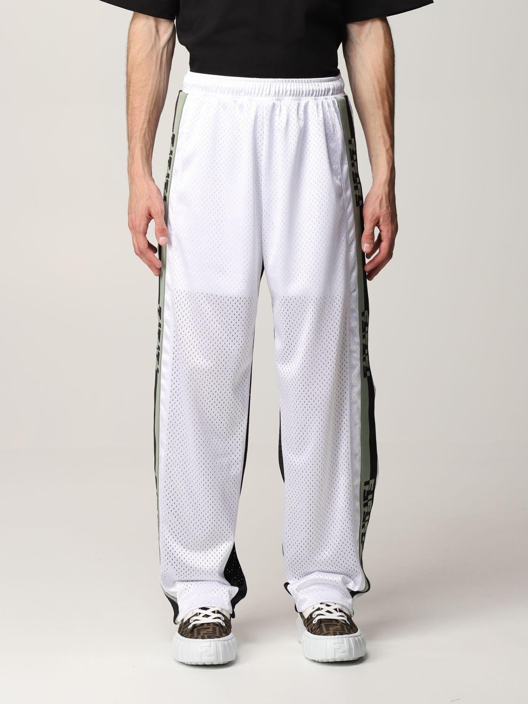 Trousers Fendi: Fendi bicolor jogging trousers with FF bands black 1