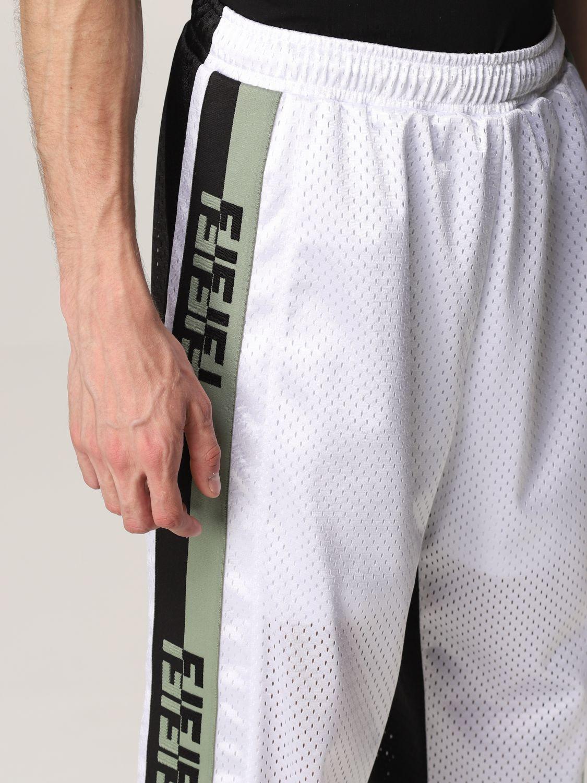 Trousers Fendi: Fendi bicolor jogging trousers with FF bands black 5