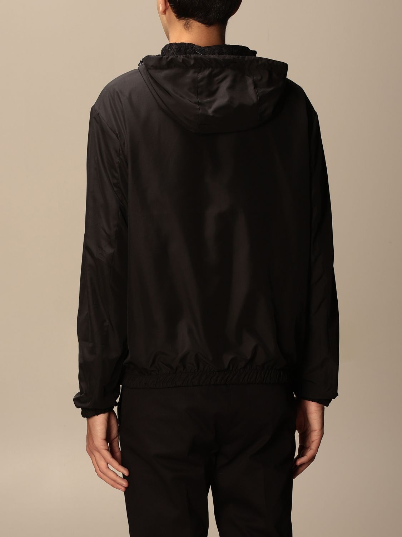 Giacca Fendi: Giacca di nylon Fendi con cappuccio e zip nero 3
