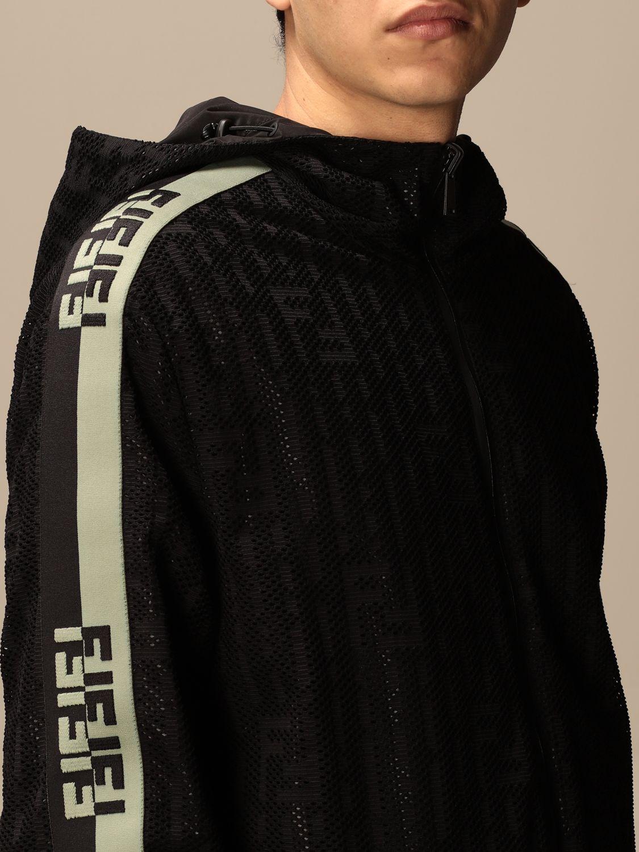 Giacca Fendi: Giacca di nylon Fendi con cappuccio e zip nero 5