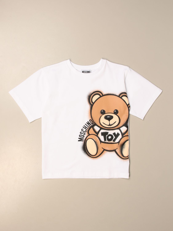 Camiseta Moschino Kid: Camiseta niños Moschino Kid blanco 1
