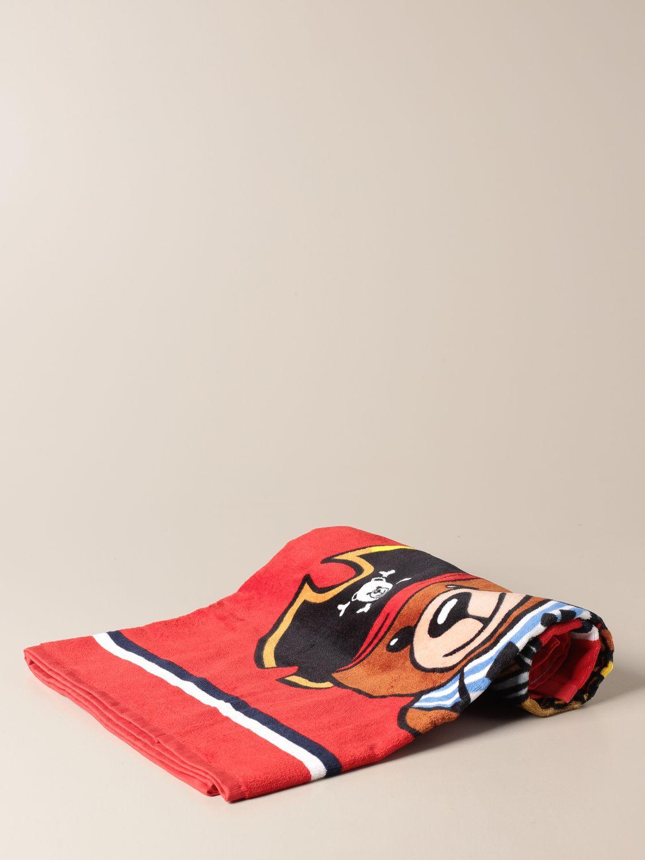 Beach towel baby Moschino Kid: Beach towel baby kids Moschino Kid red 1