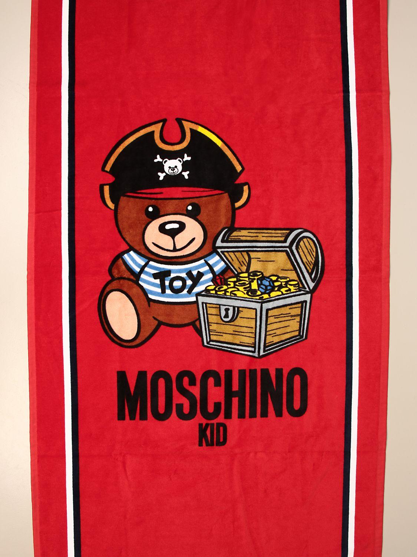 Beach towel baby Moschino Kid: Beach towel baby kids Moschino Kid red 3