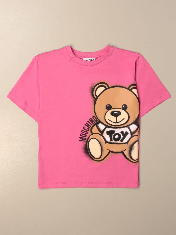 T恤 Moschino Kid: T恤 儿童 Moschino Kid 紫红色 1