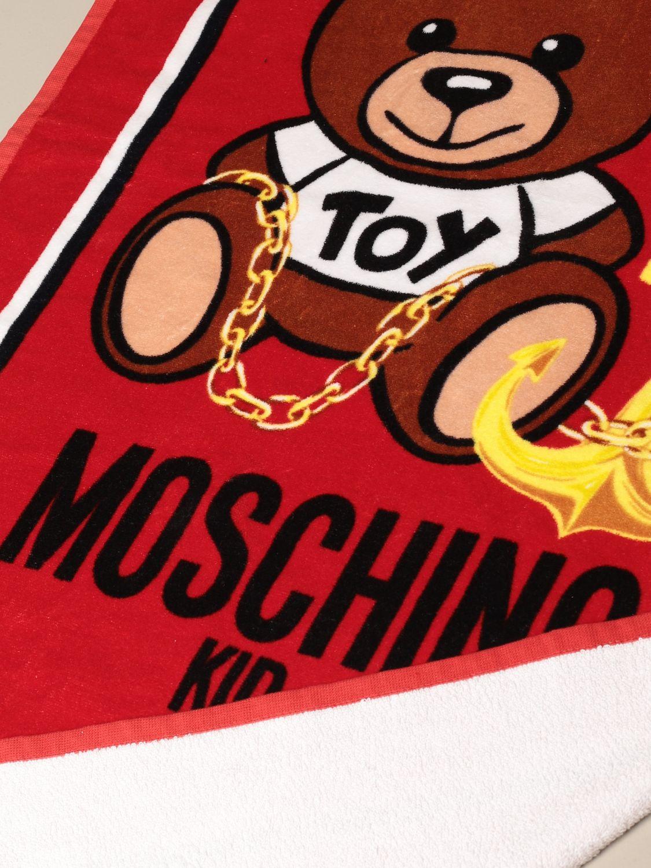 Badetuch Mädchen Moschino Kid: Badetuch mädchen kinder Moschino Kid rot 2
