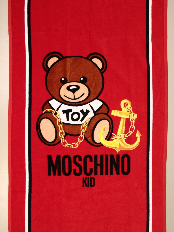 Badetuch Mädchen Moschino Kid: Badetuch mädchen kinder Moschino Kid rot 3
