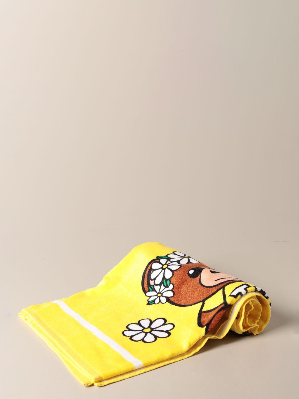 Beach towel girl Moschino Kid: Beach towel girl kids Moschino Kid yellow 1