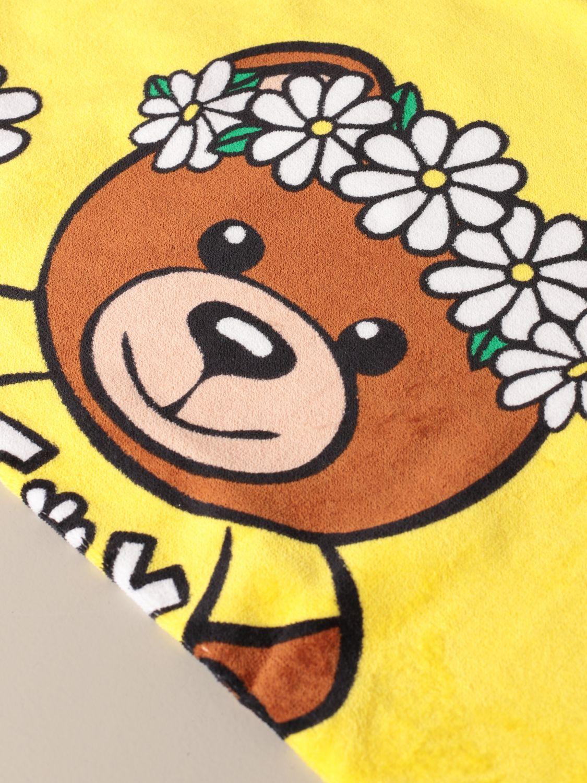 Beach towel girl Moschino Kid: Beach towel girl kids Moschino Kid yellow 2
