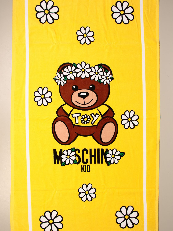 Beach towel girl Moschino Kid: Beach towel girl kids Moschino Kid yellow 3