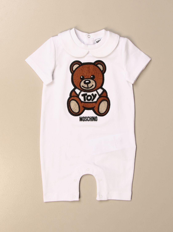 Tuta Moschino Baby: Tutina corta Moschino Baby con big teddy bianco 1