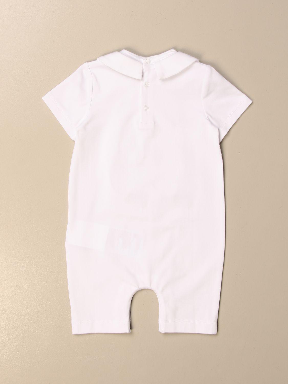 Tuta Moschino Baby: Tutina corta Moschino Baby con big teddy bianco 2