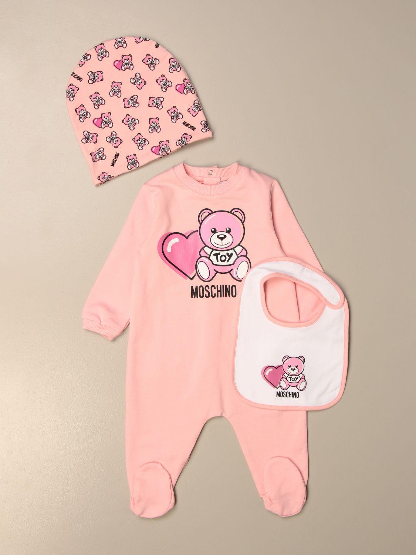 Pack Moschino Baby: Pelele niños Moschino Baby rosa 1