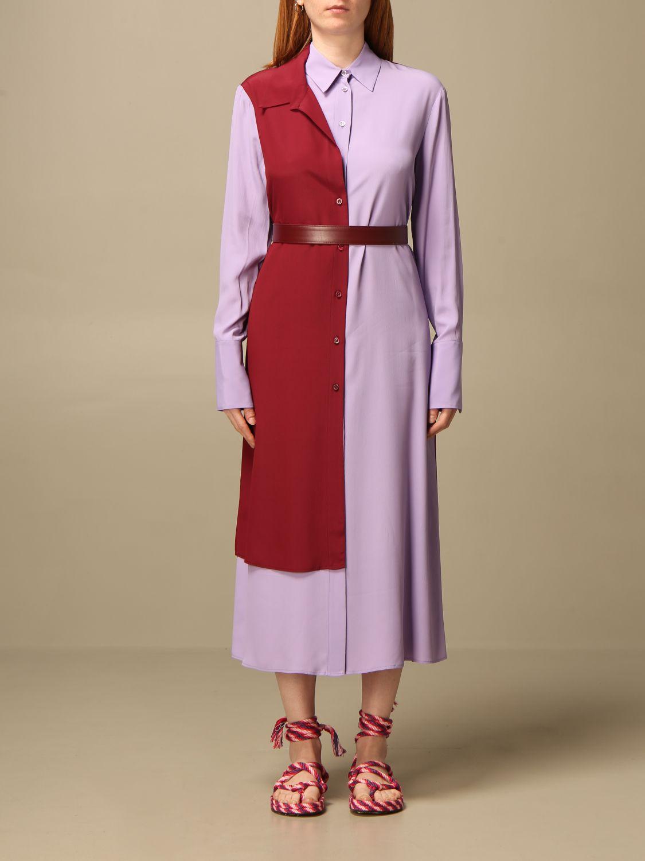 Kleid Simona Corsellini: Kleid damen Simona Corsellini lila 1