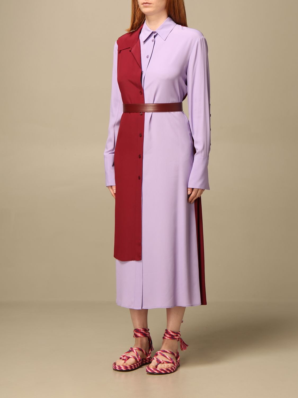 Kleid Simona Corsellini: Kleid damen Simona Corsellini lila 3