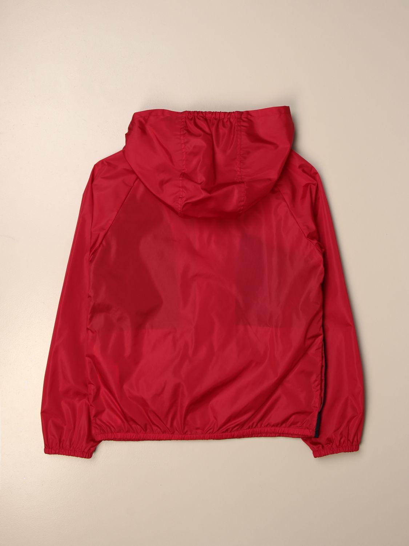 Giacca Gucci: Giacca di nylon Gucci con big logo rosso 2