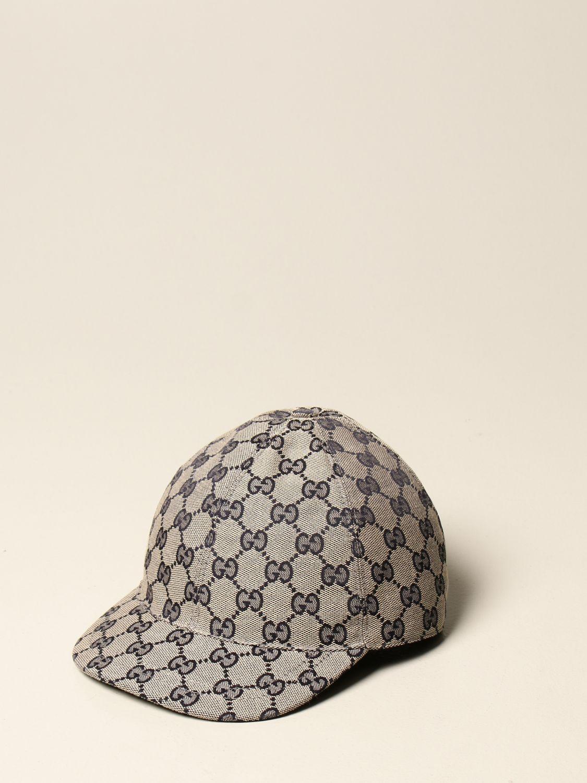 Cappello bambino Gucci: Cappello da baseball Gucci in tessuto GG Supreme moro 1