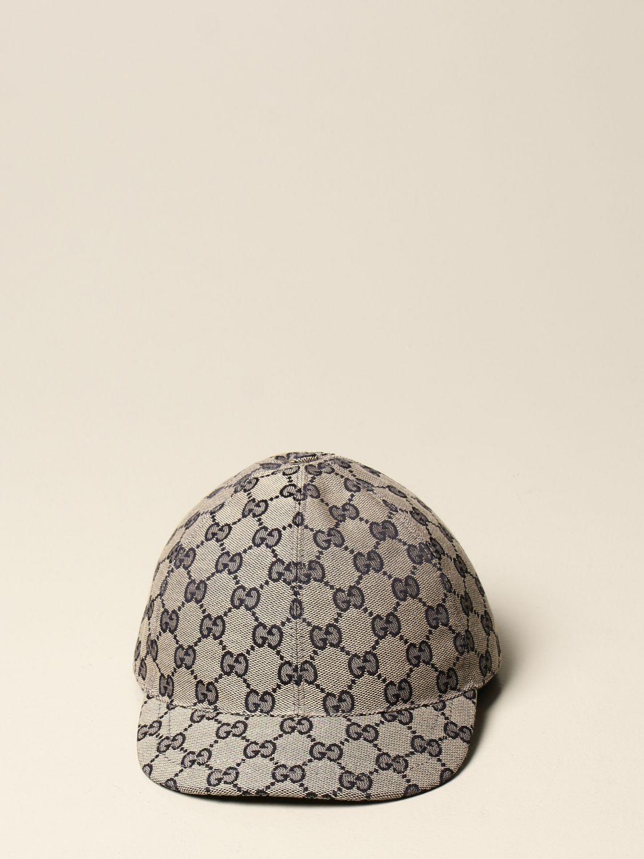 Cappello bambino Gucci: Cappello da baseball Gucci in tessuto GG Supreme moro 2