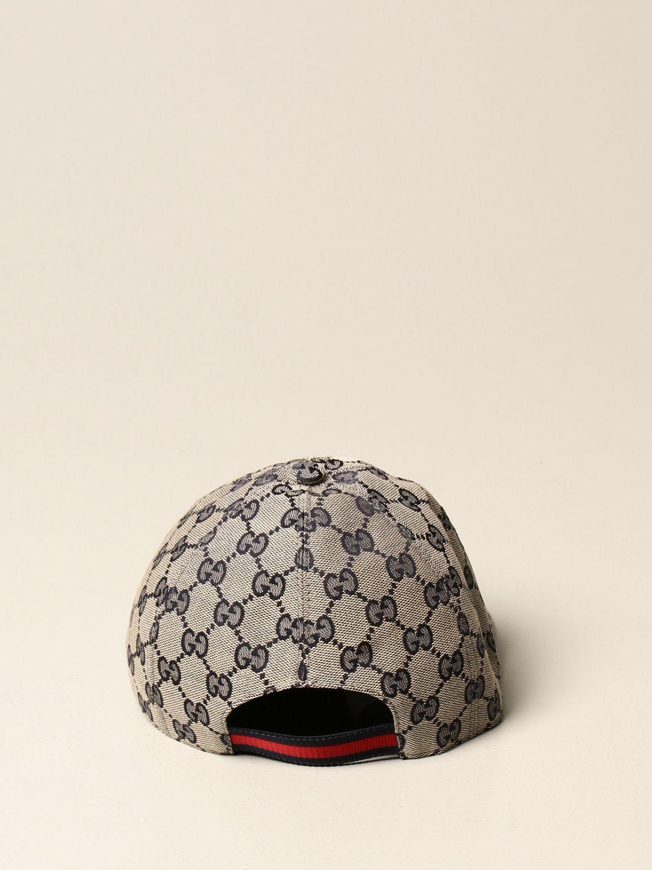 Cappello bambino Gucci: Cappello da baseball Gucci in tessuto GG Supreme moro 3