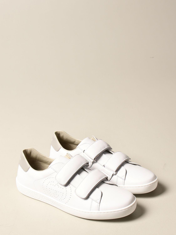 Scarpe Gucci: Sneakers Ace Gucci in pelle con tallone colorato bianco 2