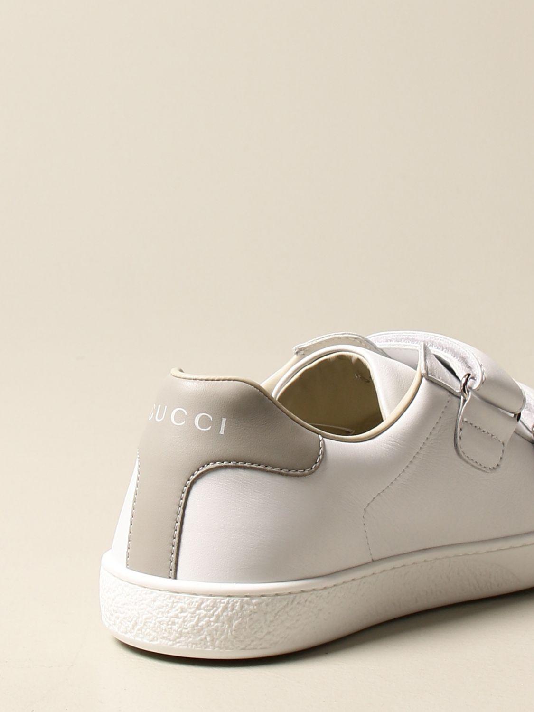 Scarpe Gucci: Sneakers Ace Gucci in pelle con tallone colorato bianco 3