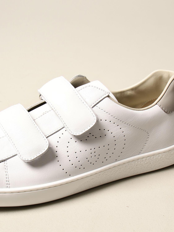 Scarpe Gucci: Sneakers Ace Gucci in pelle con tallone colorato bianco 4