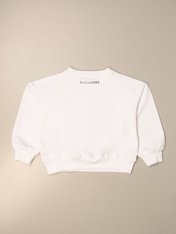 Details about  /0418S felpa bimba GIRL PATRIZIA PEPE cotton grey//white ricamo swearshirt
