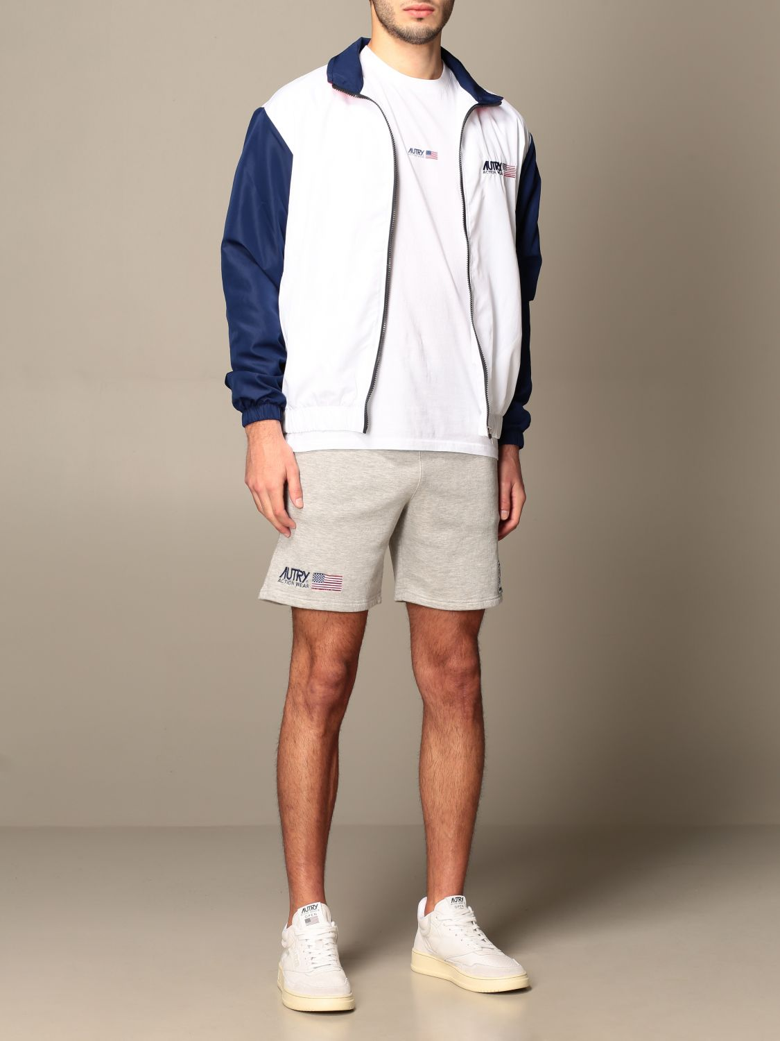 Giacca Autry: Giacca con zip Capsule Open Autry in cotone bianco 2