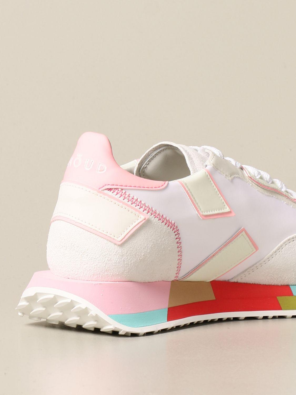 Sneakers Ghoud: Sneakers Rush-M Ghoud in camoscio e nylon bianco 3