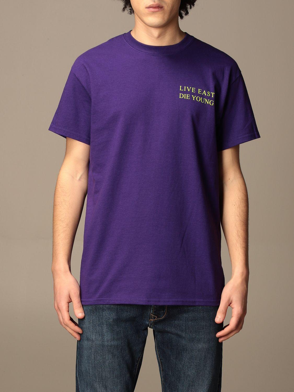 T-shirt Backsideclub: T-shirt Kim Backsideclub in cotone con stampa posteriore viola 1