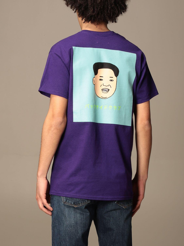 T-shirt Backsideclub: T-shirt Kim Backsideclub in cotone con stampa posteriore viola 2