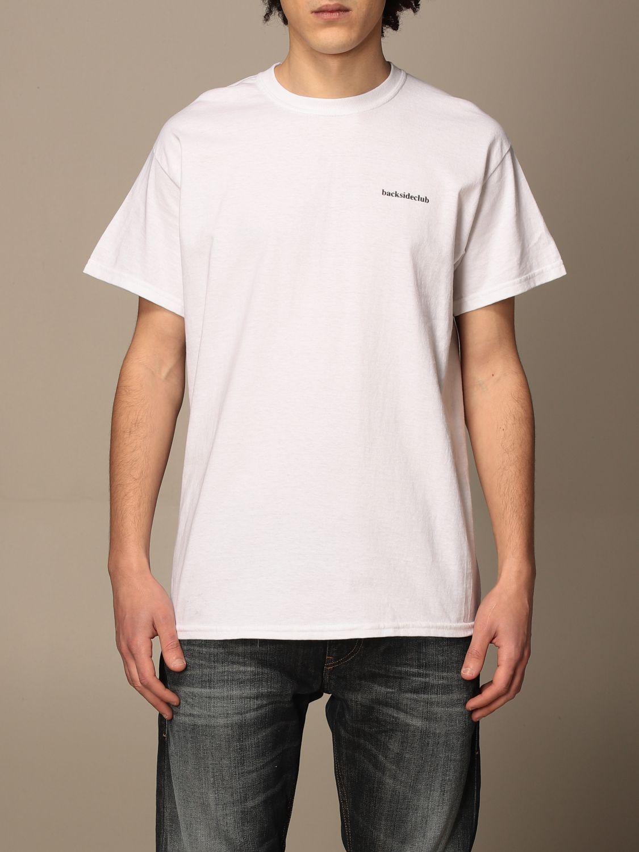 T-shirt Backsideclub: T-shirt homme Backsideclub blanc 1