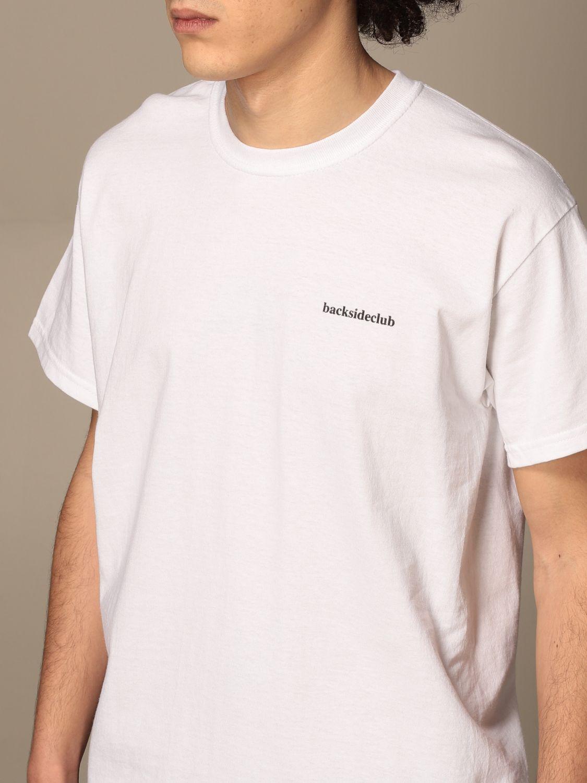 T-shirt Backsideclub: T-shirt homme Backsideclub blanc 3