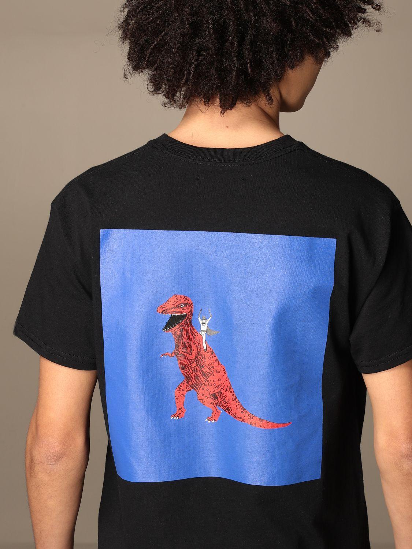 T-shirt Backsideclub: T-shirt Batdino Backsideclub in cotone con stampa nero 3