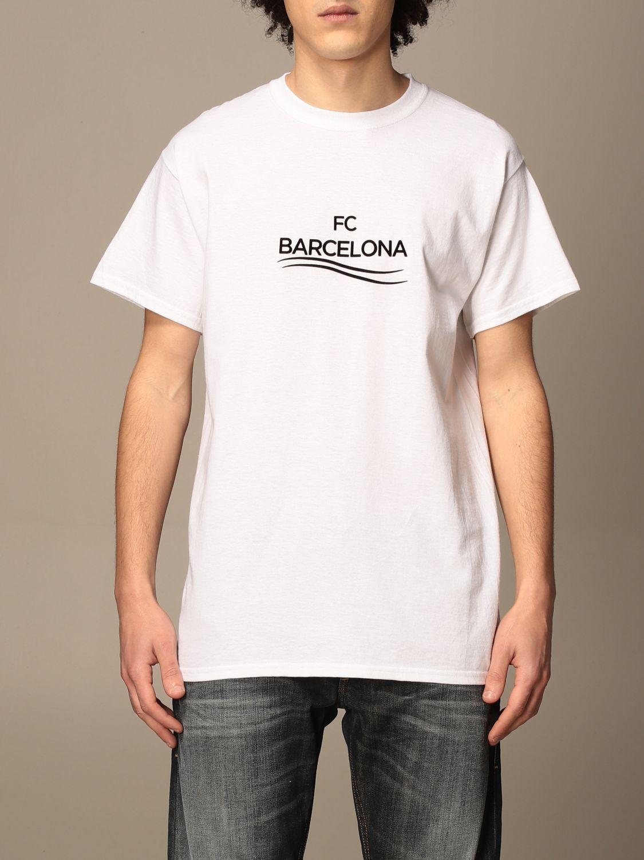 T-shirt Backsideclub: T-shirt Barcelona Backsideclub in cotone bianco 1
