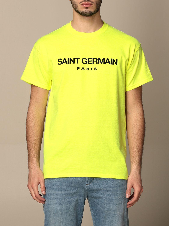T-shirt Backsideclub: T-shirt Germain Backsideclub in cotone con stampa giallo 1