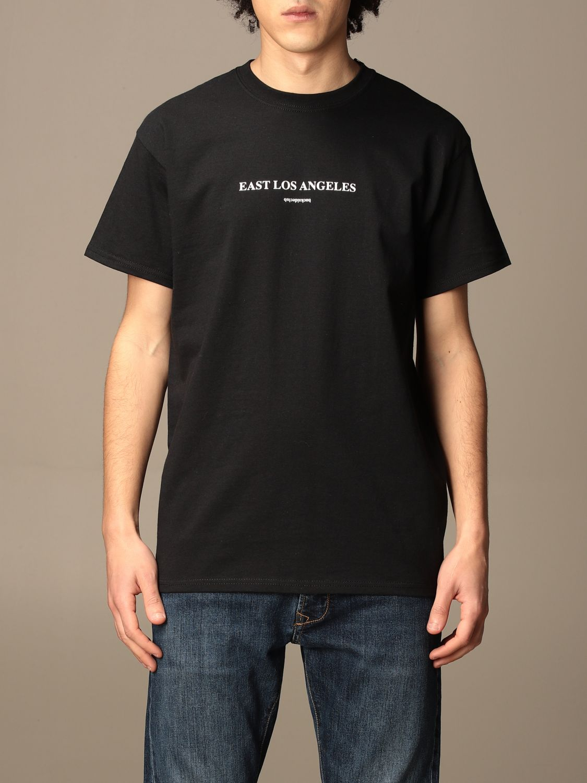T-shirt Backsideclub: T-shirt East Los Backsideclub in cotone con stampa nero 1